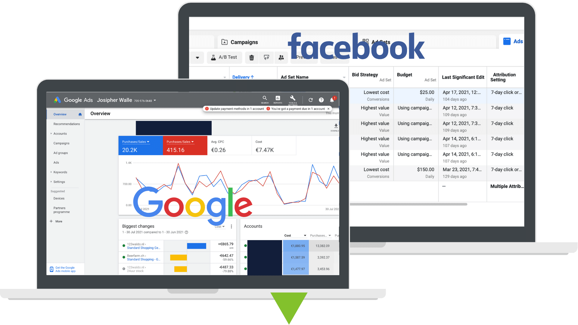 Customer Acquisition, Facebook ads and Google ads by Josipher and Team, mobile